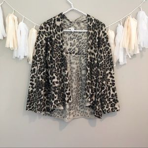 Chico's Size 3 Cheetah Print Cardigan Sweater